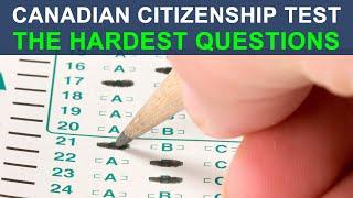 CANADIAN CITIZENSHIP TEST 2018 - THE HARDEST QUESTIONS
