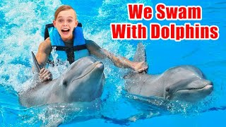 We Swam With Dolphins! Surprise Birthday for Jack and Jazzy!