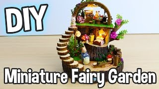 DIY Miniature Fairy Garden Dollhouse Kit With Totoro, Gift Box And Working Lights!
