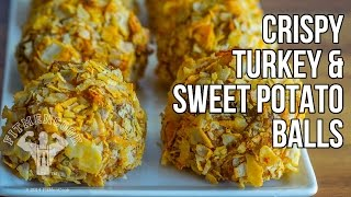 Gluten-free Crispy Sweet Potato & Turkey Balls Recipe / Bolas Crujientes de Batata y Pavo