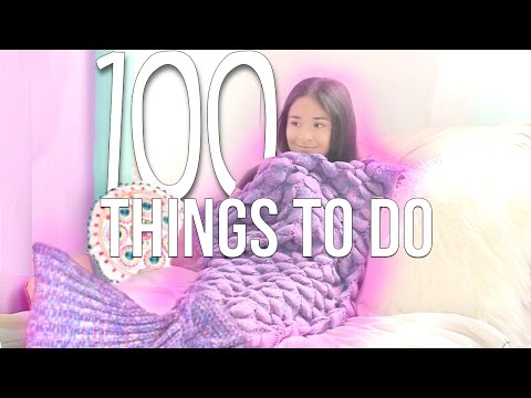 100 THINGS TO DO WHEN YOU'RE BORED!! | 2017 AdelaDIY