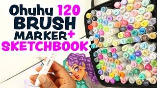Ohuhu 120 BRUSH MARKERS & NEW MARKER PADS | The BEST Cheap Markers & Ohuhu Marker Pad