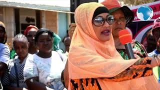 Land row: Isiolo Woman Rep Rehema Jaldesa tells residents with