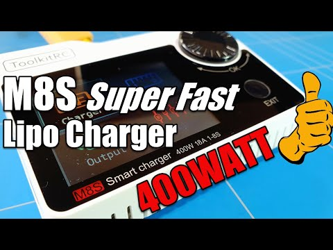 ToolkitRc M8S 400WATT Lipo Charger Review CHARGING SUPER FAST Best Bang For YOUR Buck 2020