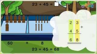 สื่อการเรียนการสอน การบวกจำนวนสองหลักกับจำนวนสองหลัก (ไม่มีการทด) ป.1 คณิตศาสตร์