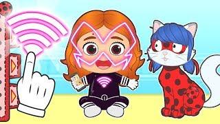 BEBE LILY Disfraz De La Villana De La Superheroina Mariquita 💥 Dibujos Animados Infantiles