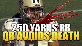 Madden NFL 16 Ultimate Team Gameplay - Quarterback Dies + 250 yard RB Saves Qb - MUT 16