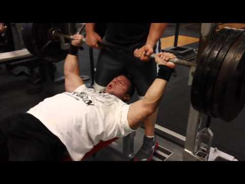 Raw 505lb Bench press @198 Garrett Gunz Griffin