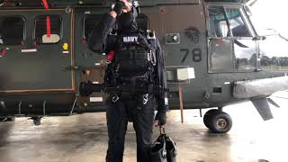 Navy Divers Gear For Free-fall Jump
