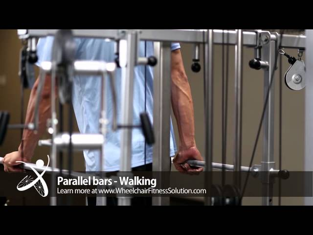 Wheelchair Fitness Solution | Exercise: Walking with Parallel bars (8 of 40)