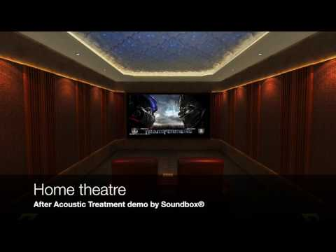Home Theatre acoustic treatment demo by Soundbox