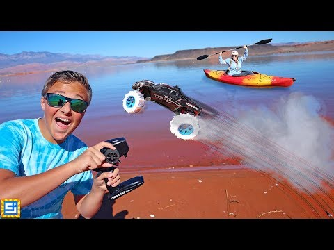RC Car Drives On Water! Seriously Crazy!!