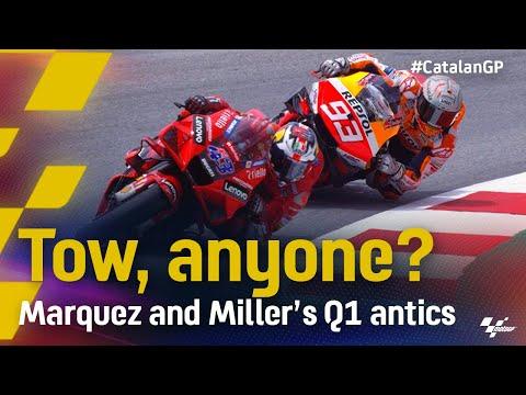 Q1で起きたマルケス vs ミラー。MotoGP 2021 カタルニアGP 予選Q1のマルケスの走りを捉えた動画