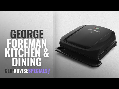 , George Foreman 5-Serving Multi-Plate Evolve Grill System with Ceramic Plates and Waffle Plates, Red, GRP4842RB