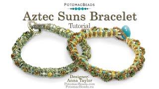 Aztec Suns Bracelet- DIY Jewelry Making Tutorial By PotomacBeads