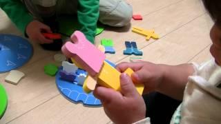 英語学習【2才と6才☆Emotional Toysで遊ぶ】