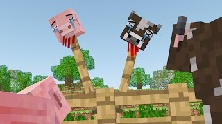 Cow Vs Pig Life   A Minecraft Animation