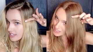 Clairol Natural Instincts Amber Shimmer 6.5 Before & After