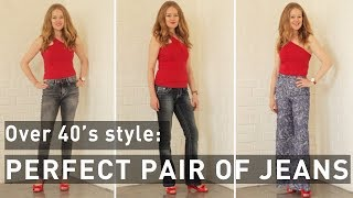 Best jeans for women over 40 - best jeans for your body shape - fashion for women over 40
