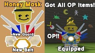 Got All New Items! Honey Mask, New Guard, New Belt! OP!! - Bee Swarm Simulator