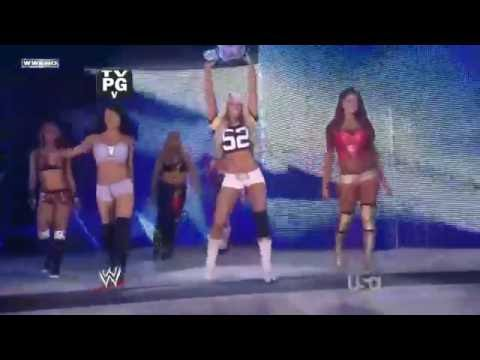 (720pHD): WWE Raw 07.18.11: Team Bella Twins vs Team Kelly Kelly