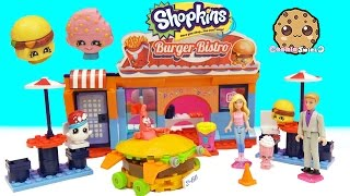 Barbie & Ken Eat At Shopkins Kinstructions Bistro Resturant + Ride in Burger Car