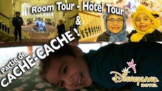 VLOG - CACHE-CACHE Dans Notre Chambre - Room Tour & Hôtel Tour Disneyland Hôtel