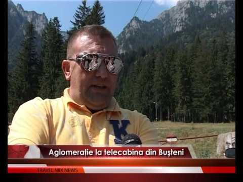 Aglomeraţie la telecabina din Buşteni – VIDEO