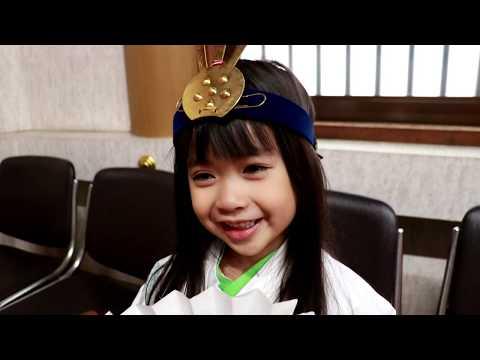 三重県津市の護国神社でひな祭り 三人官女になりました - YouTube