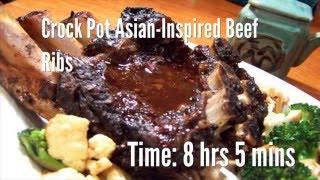 Crock Pot Asian-Inspired Beef Ribs Recipe