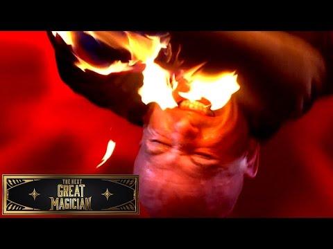 Jonathan Goodwin Sets Himself on Fire | The Next Great Magician (видео)
