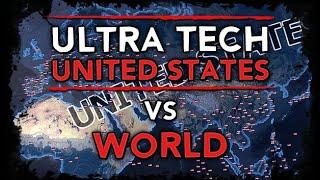 [HoI4] Ultra Tech USA vs World [WW2 AI Timelapse]