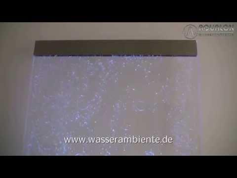 Wasserwand mit Luftsprudeleffekt