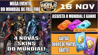 Evento do Mundial, 4 Novas Skins, Cartão Dobro de Pontos, Tickets, Emote do Pirata e MAIS