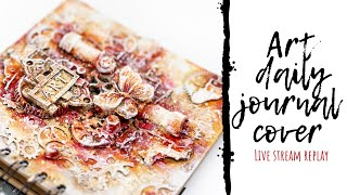 Altered Art Daily Journal Cover | Steampunk Live Stream Hop