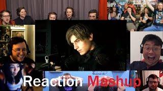 RESIDENT EVIL 2 REMAKE Reveal Trailer PS4 (E3 2018) REACTION MASHUP