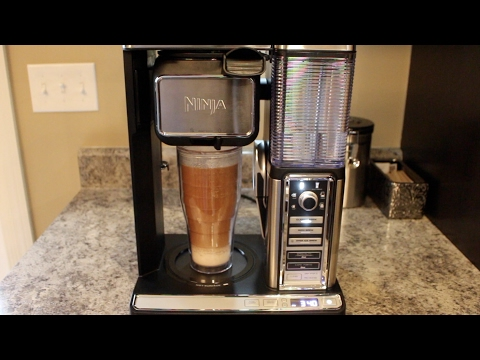 , Ninja Coffee Bar Auto-iQ Programmable Coffee Maker with 6 Brew Sizes, 5 Brew Options, Milk Frother, Removable Water Reservoir and Glass Carafe (CF091)
