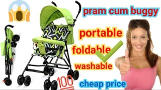 🔴Pram cum buggy best stroller metal body portable infants stroller new born toys games sports luvlap