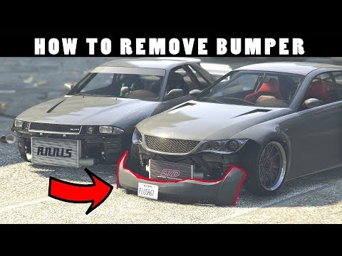 HOW TO REMOVE BUMPERS IN GTA 5 ONLINE CLEAN