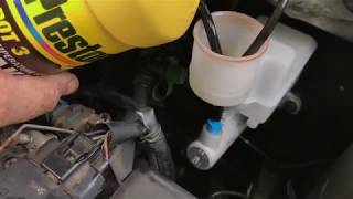 Easy How To Bleed Brake Master Cylinder On The Car No bench bleeding..