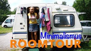 Minimalismus Camper Roomtour    Selbstausbau・1Jahr unterwegs・Frau im Camper