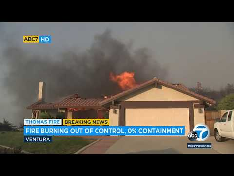Thomas Fire explodes to 45K acres as homes burn in Ventura County | ABC7