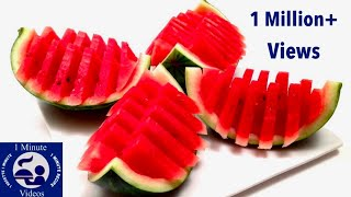 How to Quickly Cut and Serve a Watermelon (HD)