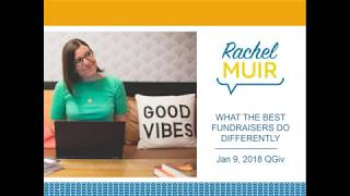 Rachel Muir: What The Best Fundraisers Do Differently