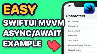 SwiftUI MVVM Async/Await Networking Example(SwiftUI 3.0, Xcode 13, Error Handling, SwiftUI Tutorial)