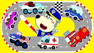 Police Baby Wolf Maintain Traffic Safety In The Toy Car City | Wolfoo Channel