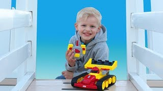 Race Car Obstacle Course Playground Challenge || Little Tikes RC Dozer Racer