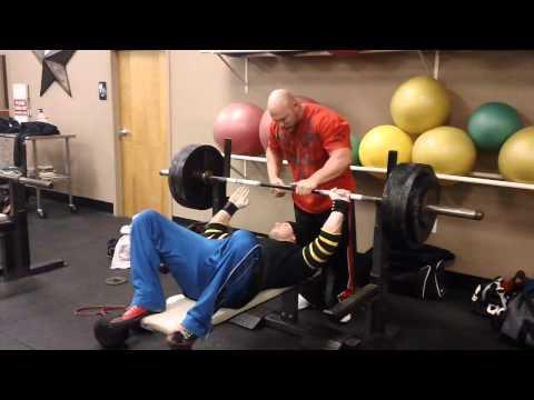 Garrett Gunz Griffin 485lb Raw bench press Sponsor Team BOAD and Team Force Factor