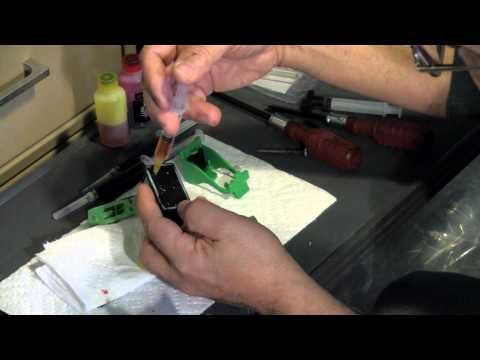 How to Refill Lexmark 26 cartridges the easy way!