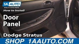 How To Remove Door Panel 01-06 Dodge Stratus